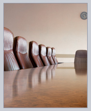 board room for meetings and agendas