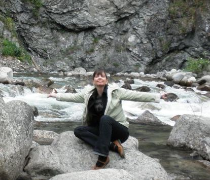 Bethe Davis enjoying hiking at Hatcher Pass
